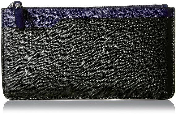 85fa4d1f0d Amazon.com: ECCO Iola Long Travel Wallet, black/deep cobalt: Clothing