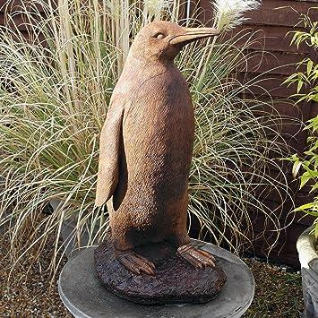 Garden ornaments monty the penguin ash stone statue amazon garden ornaments monty the penguin ash stone statue workwithnaturefo