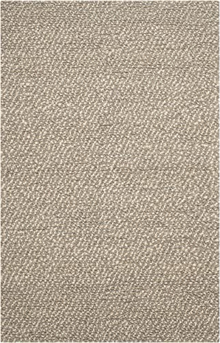 Safavieh Manhattan Collection MAN421A Hand Woven Grey and Brown Wool Area Rug 5' x 8'