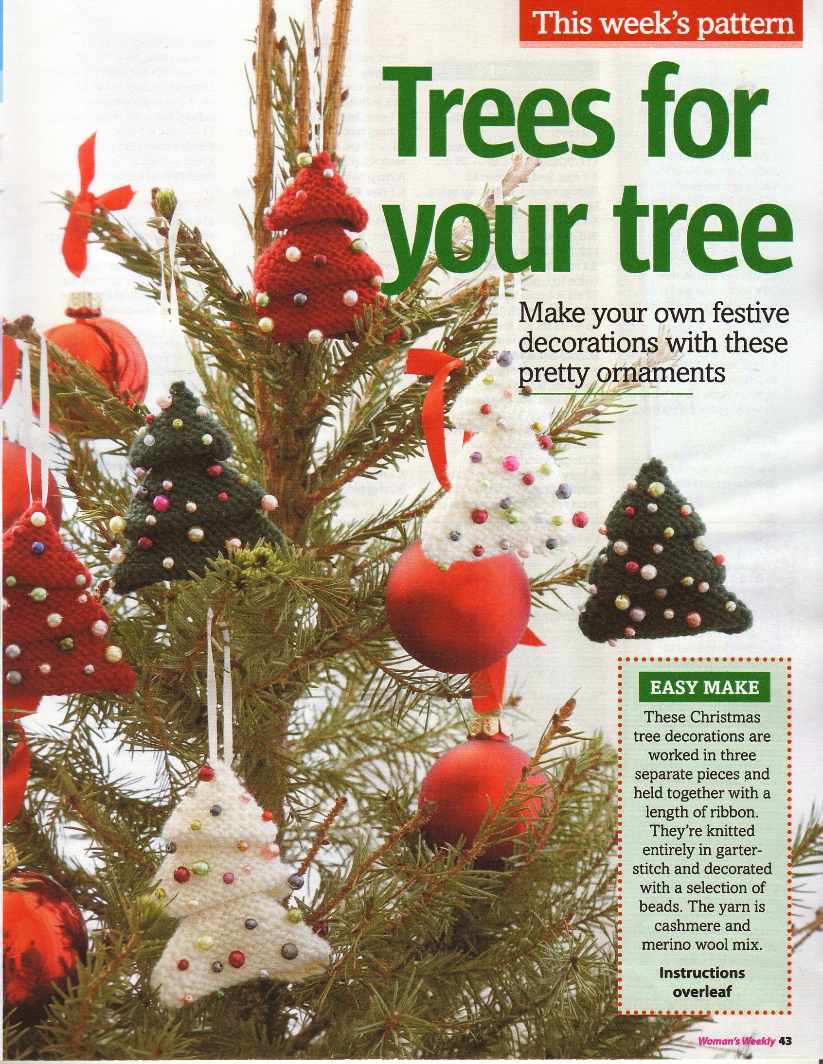Christmas Trees Decorations for Your Christmas Tree Knitting Pattern ...
