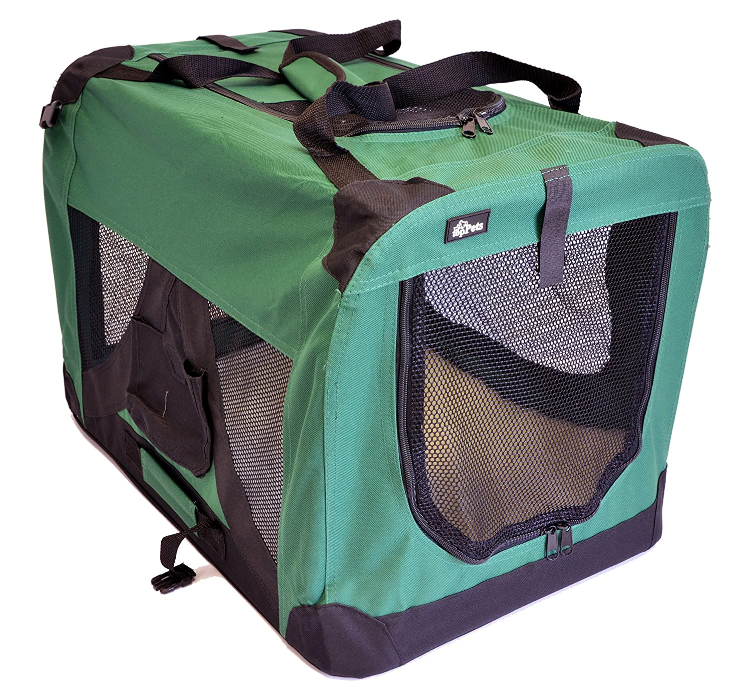 topPets Portable Soft Pet Crate or Kennel for Dog, Cat, or other small pets. Great for Indoor and Outdoor