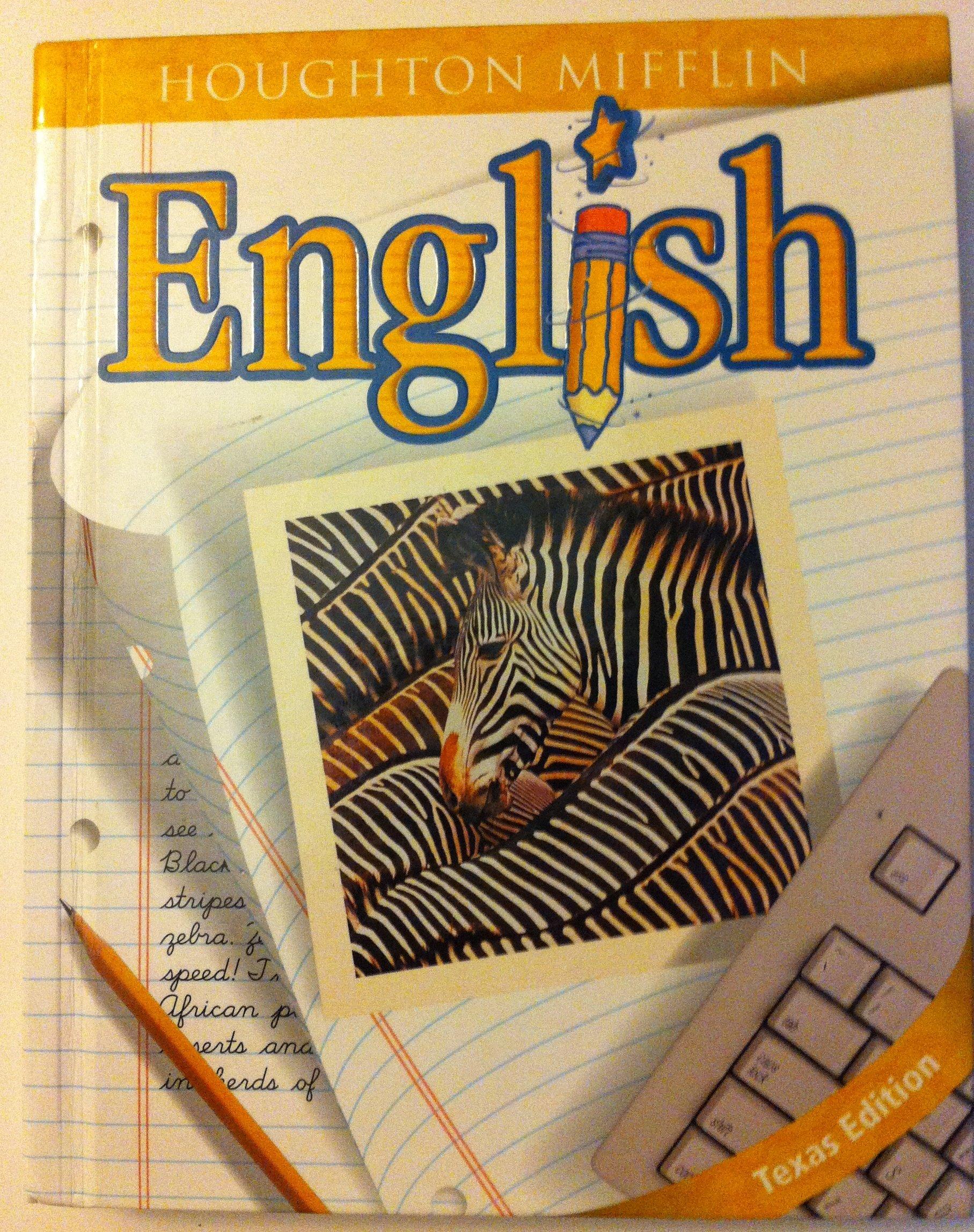 Houghton Mifflin English Texas: Hardcover Student Edition Grade 5 2001 ebook