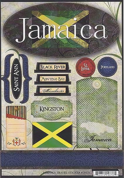 Amazon Jamaica World Travel Cardstock Scrapbook Stickers 19878