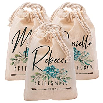 Amazon.com: Personalized Bridal Shower Pouch | Cotton ...