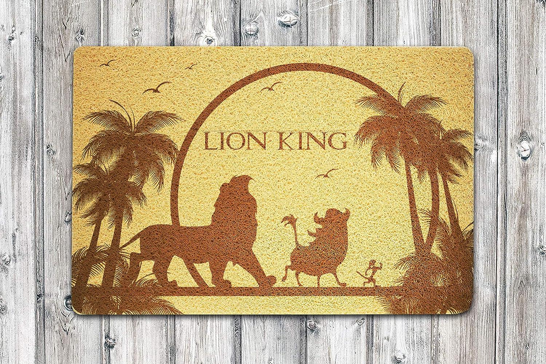 Lion King Door Mat Custom Welcome Disney Mat Home Supplies Outside Inside Décor Accessories Unique Gift Handmade Present Idea Original Design Personalized Doormat Kitchen Nursery Floor Mat