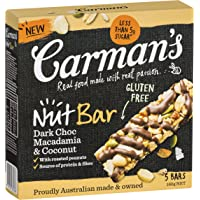 Carman's Nut Bar Dark Choc, Macadamia & Coconut, 5-Pack (160g)