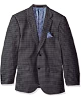 Alexander Julian Colours Men's Big and Tall Single Breasted Modern Fit Check Suit Jacket
