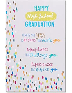 American greetings graduation greeting card 6031342 amazon american greetings high school graduation card with glitter m4hsunfo