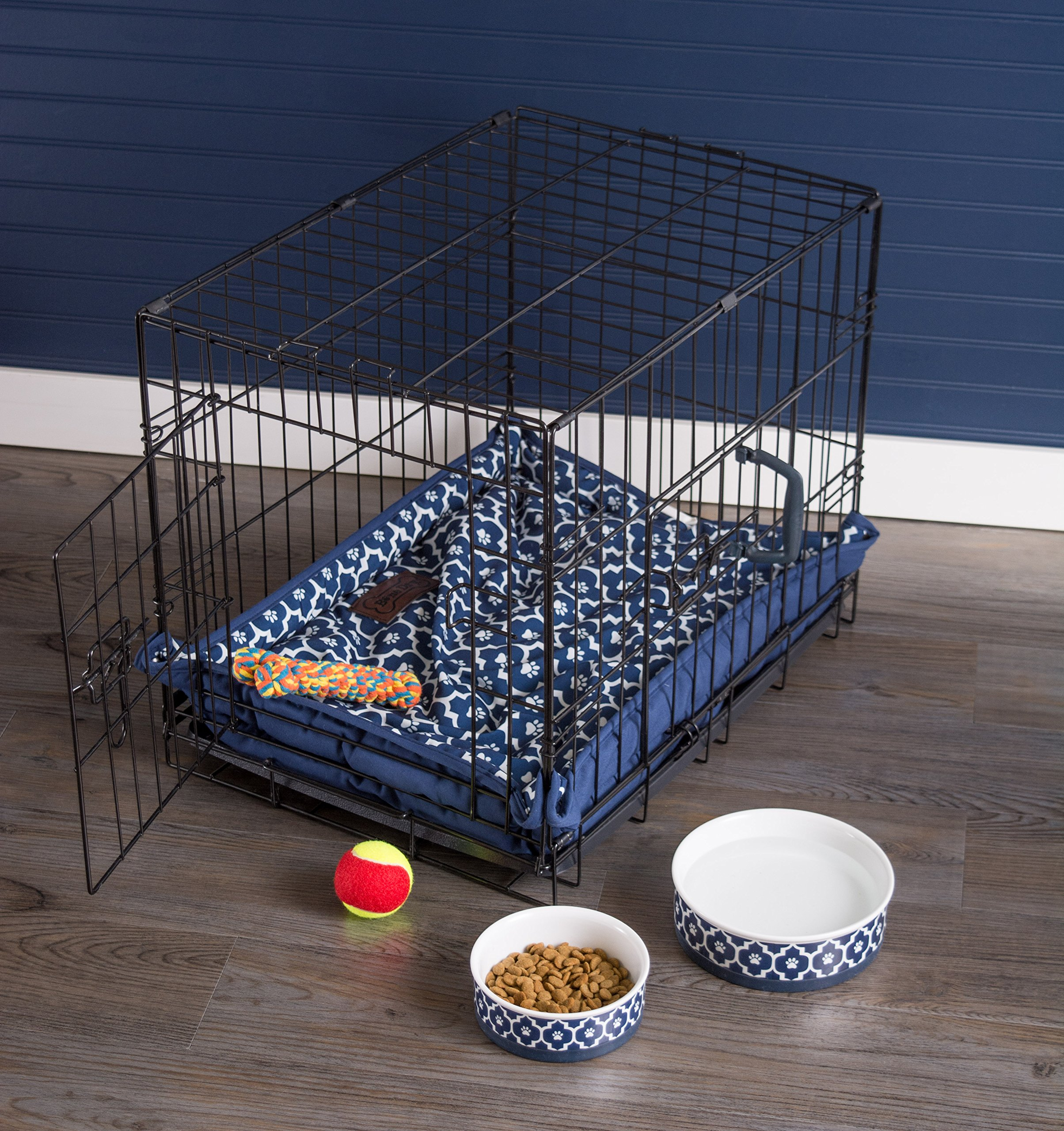 DII Bone Dry Reversible Lattice Kennel & Crate Corner Snapping Pet Mat, 22x34x2.5'' Large Rectangle Bed Dogs or Cats-Gray by Bone Dry (Image #12)