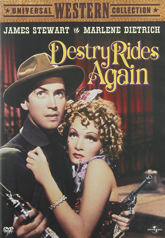 Destry Rides Again Marlene Dietrich James Stewart Mischa Auer Max Brand