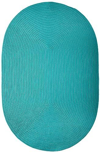 Boca Raton Polypropylene Braided Rug, 4-Feet by 6-Feet, Turquoise