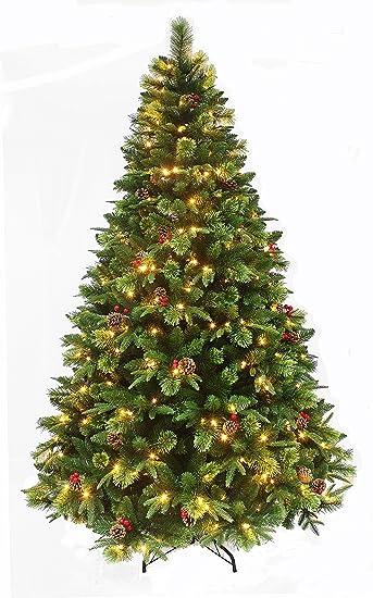 Amazon.com: True Nature Beauty Pine/Pre-lit Christmas tree with ...