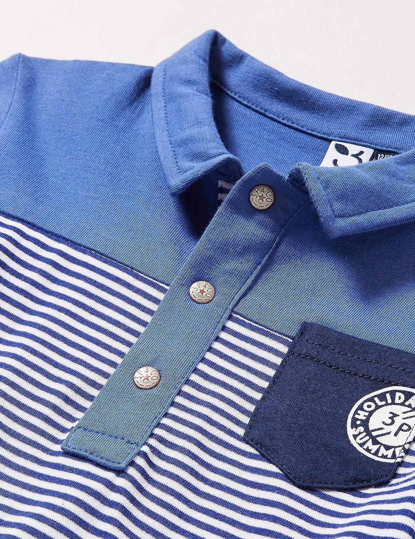 3 Pommes Blue Striped Polo Shirt