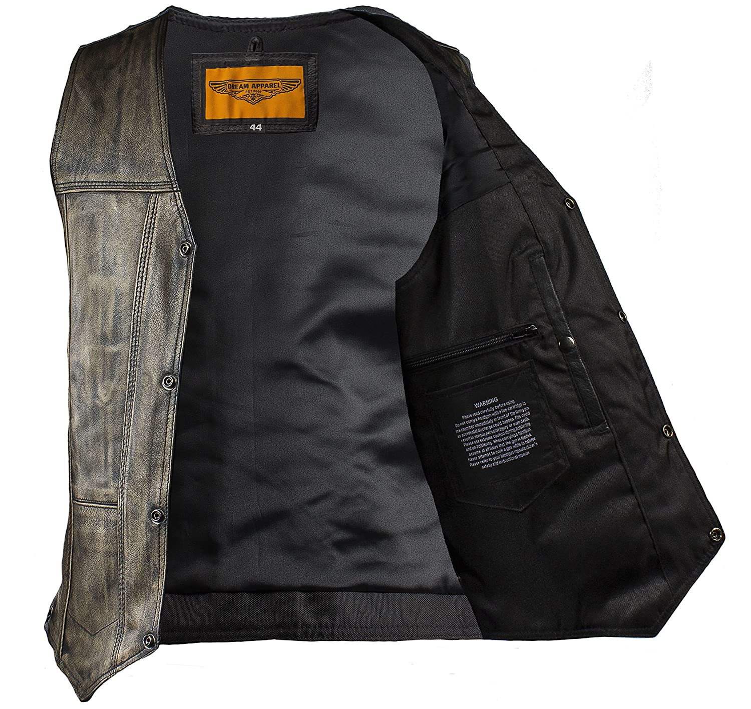 Amazon Mens Distressed Brown Naked Cowhide Leather Motorcycle