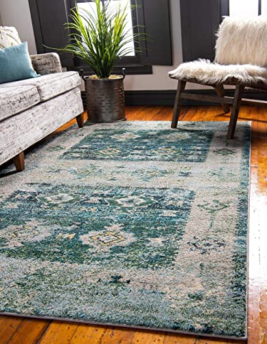Reviewed: Unique Loom Monterey Collection Tribal Bohemian Bright Colors Vintage Green Area Rug 10' 6 x 16' 5