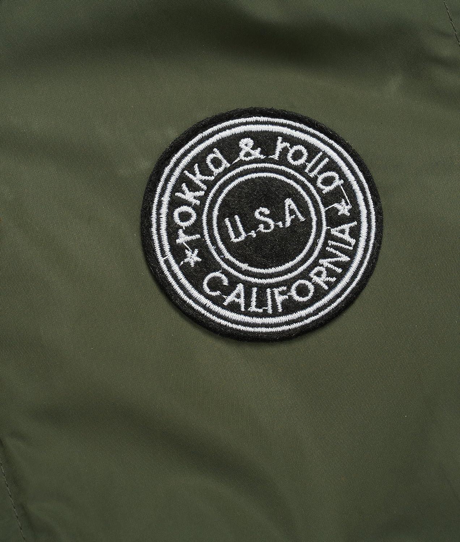 Rokka/&Rolla Boys Lightweight Water-Resistant Varsity Bomber Jacket
