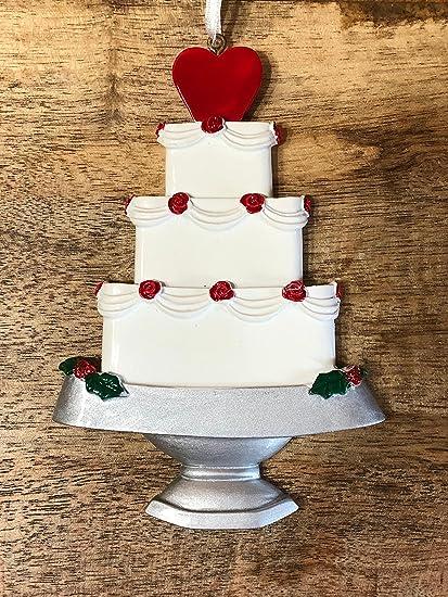 Newlyweds Christmas Ornament, White Weddings Cake Christmas Tree Ornaments,  Newlyweds Gifts, Christmas Ornaments - Amazon.com: Newlyweds Christmas Ornament, White Weddings Cake