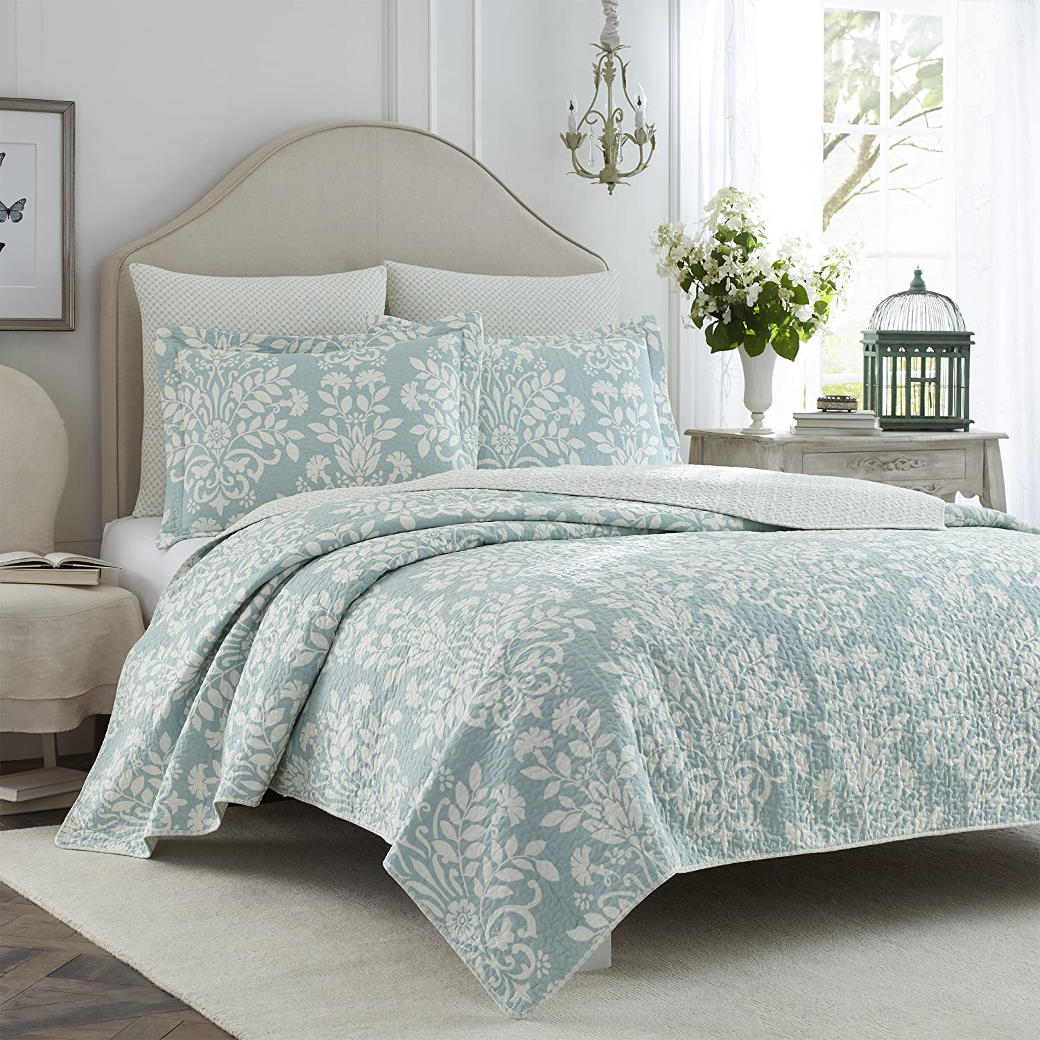 of seaview blue quilt light photo set x bedding