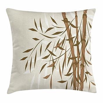 Amazon.com: Lunarable - Funda de cojín de bambú, diseño de ...