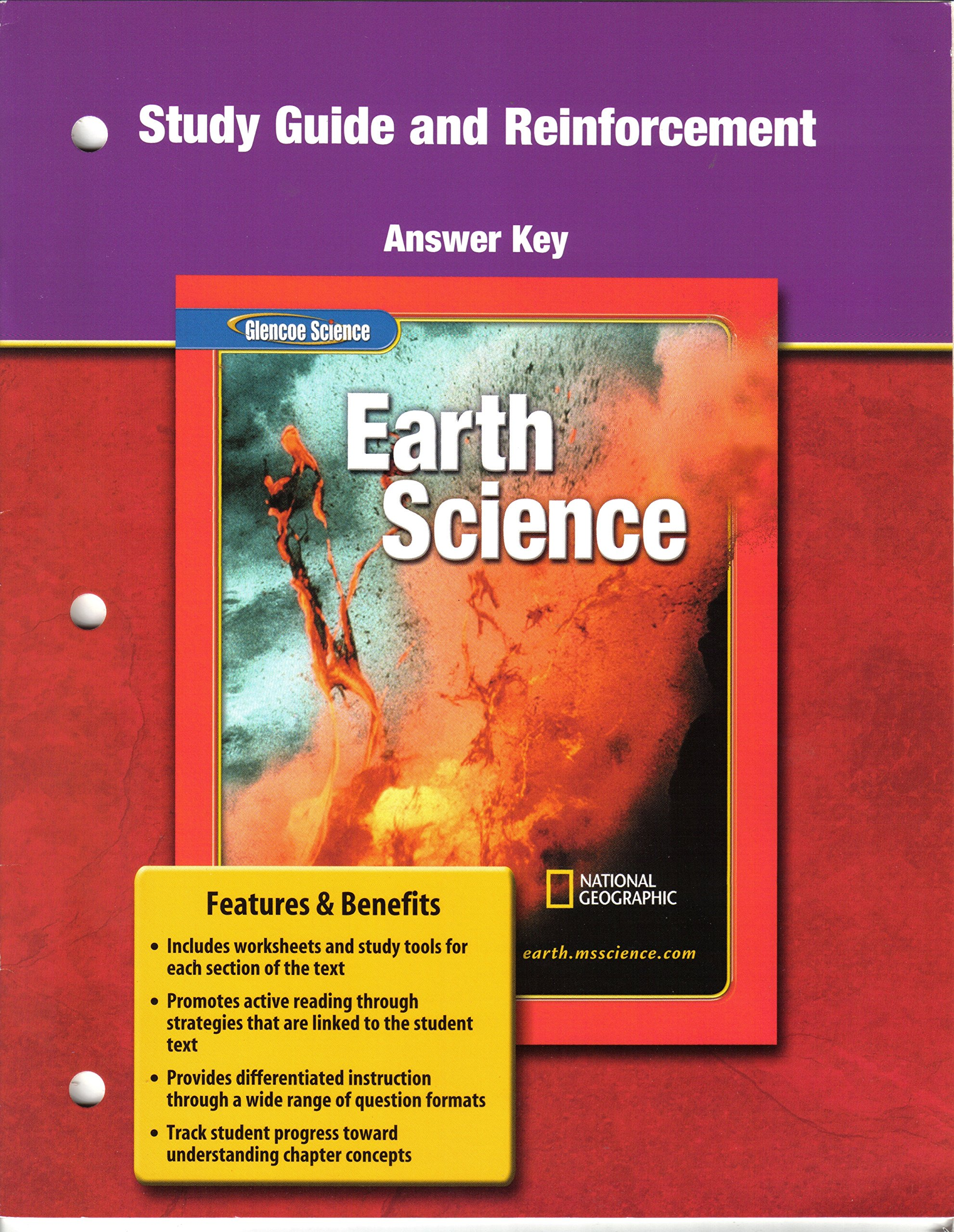 Study Guide and Reinforcement Answer Key for Glencoe Earth Science:  Glencoe: 9780078669736: Amazon.com: Books