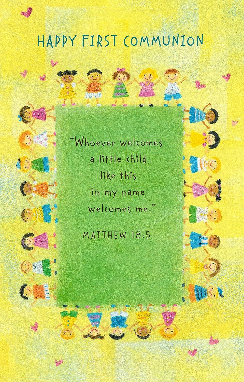 Happy Primera Comunión Bright Cute tarjeta de felicitación ...
