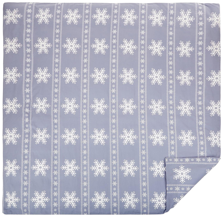 Falling Snowflake Blue Queen Pinzon Flannel Duvet Cover