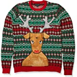Blizzard Bay Men's Rudolph Ugly Christmas Sweater with Beer Pocket