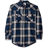 ELY CATTLEMAN Men's Long Sleeve Western Flannel