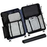 Eono Essentials 7-Pcs Lightweight Luggage Packing Organizers Packing Cubes for Travel Accessories Black