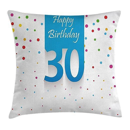30th cumpleaños Decoración manta almohada cojín por ...