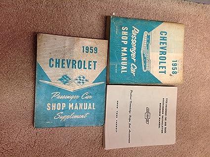 1958 chevrolet impala bel aire shop service repair manual book engine wiring  oem, diagnostic & test tools - amazon canada