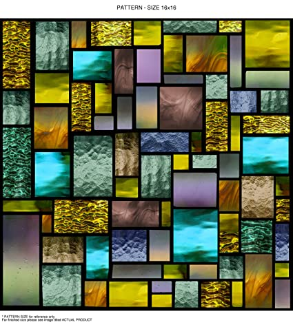 Stained Glass Window Cling Film.Windowpix 24x72 24 X 72 Decorative Static Cling Window Film Solar Stained Glass Geometric Pattern Printed On Clear For Window Glass Panels Uv