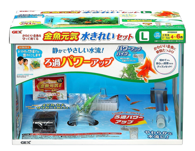 ジェックス 金魚元気 水きれいセットL 幅40cm×奥行20cm×高さ28cm