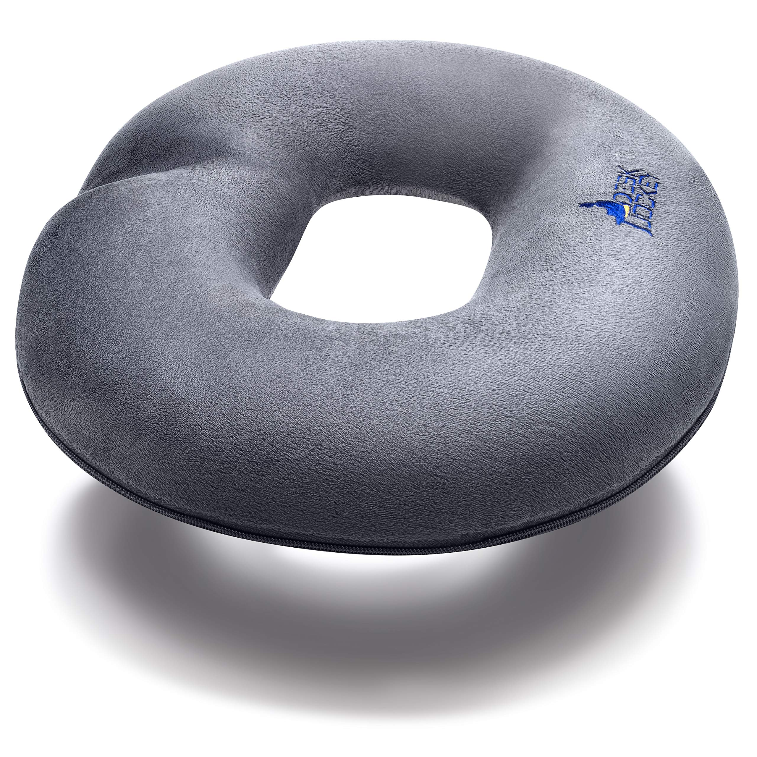 Donut Pillow - Clinical Therapeutic Grade Seat Cushion - Round Ring for Hemorrhoids, Coccyx, Tailbone Pain