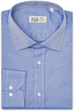 House Of Shirt, Camisa trabajada para Hombre 100% algodón, Estilo Italiano, Planchado fácil de XS a XXXL