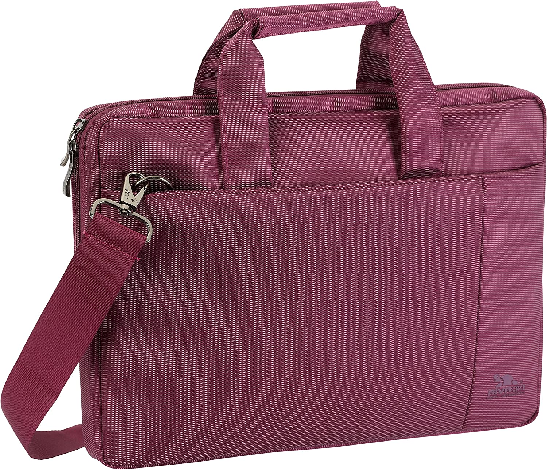 Rivacase 8221 13.3 Laptop Bag, Laptop Messenger Bag, Slim, Elegant, Purple
