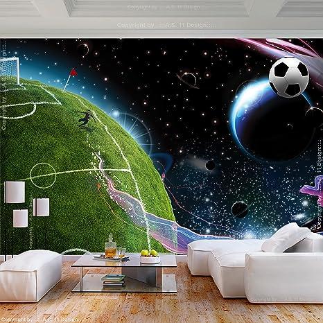 Decomonkey Fototapete Fussball 400x280 Cm Xl Tapete Fototapeten Vlies Tapeten Vliestapete Wandtapete Moderne Wandbild Wand Schlafzimmer Wohnzimmer