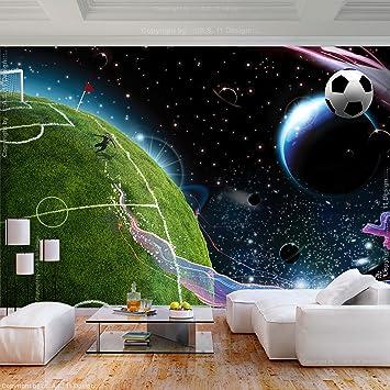 decomonkey Fototapete Fußball 300x210 cm XL Tapete Fototapeten Vlies  Tapeten Vliestapete Wandtapete moderne Wandbild Wand Schlafzimmer  Wohnzimmer ...
