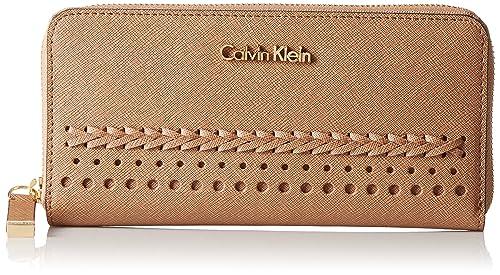 Calvin Klein - Cartera para mujer mujer beige Cashmere Braid: Amazon.es: Zapatos y complementos