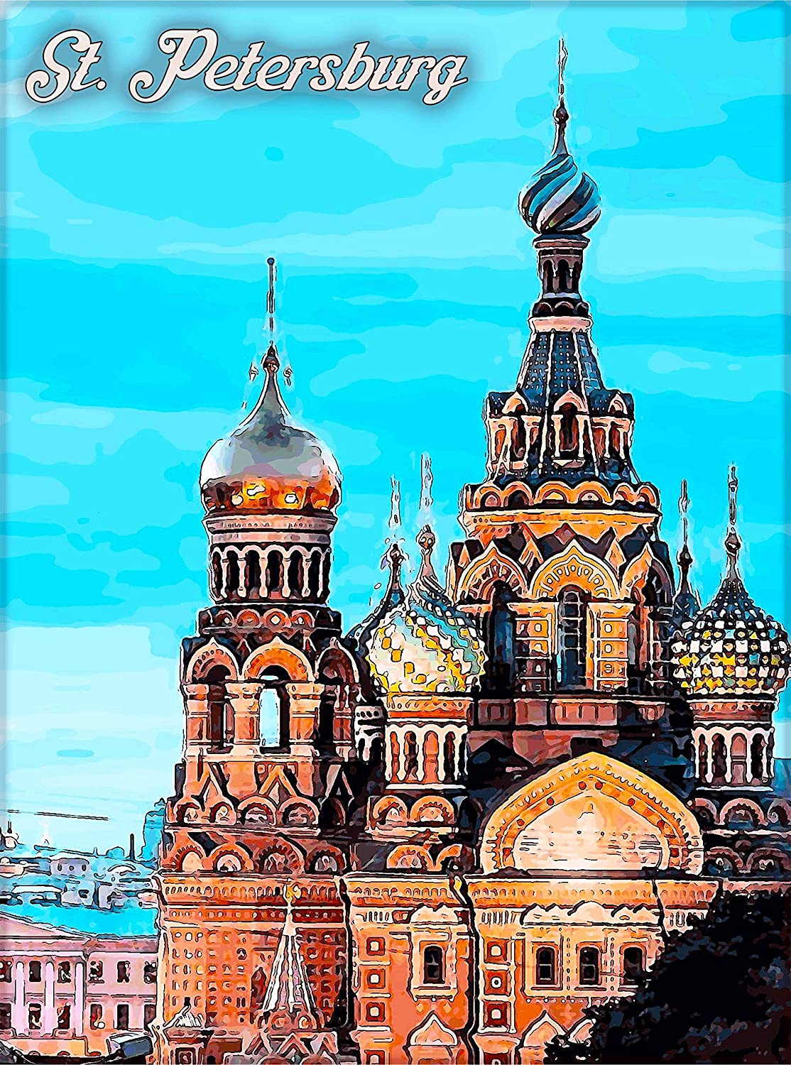 Amazon Com A Slice In Time St Petersburg Ussr Vintage Russia Russian Travel Home Wall Decor Advertisement Art Poster Print 10 X 13 5 Inches Posters Prints