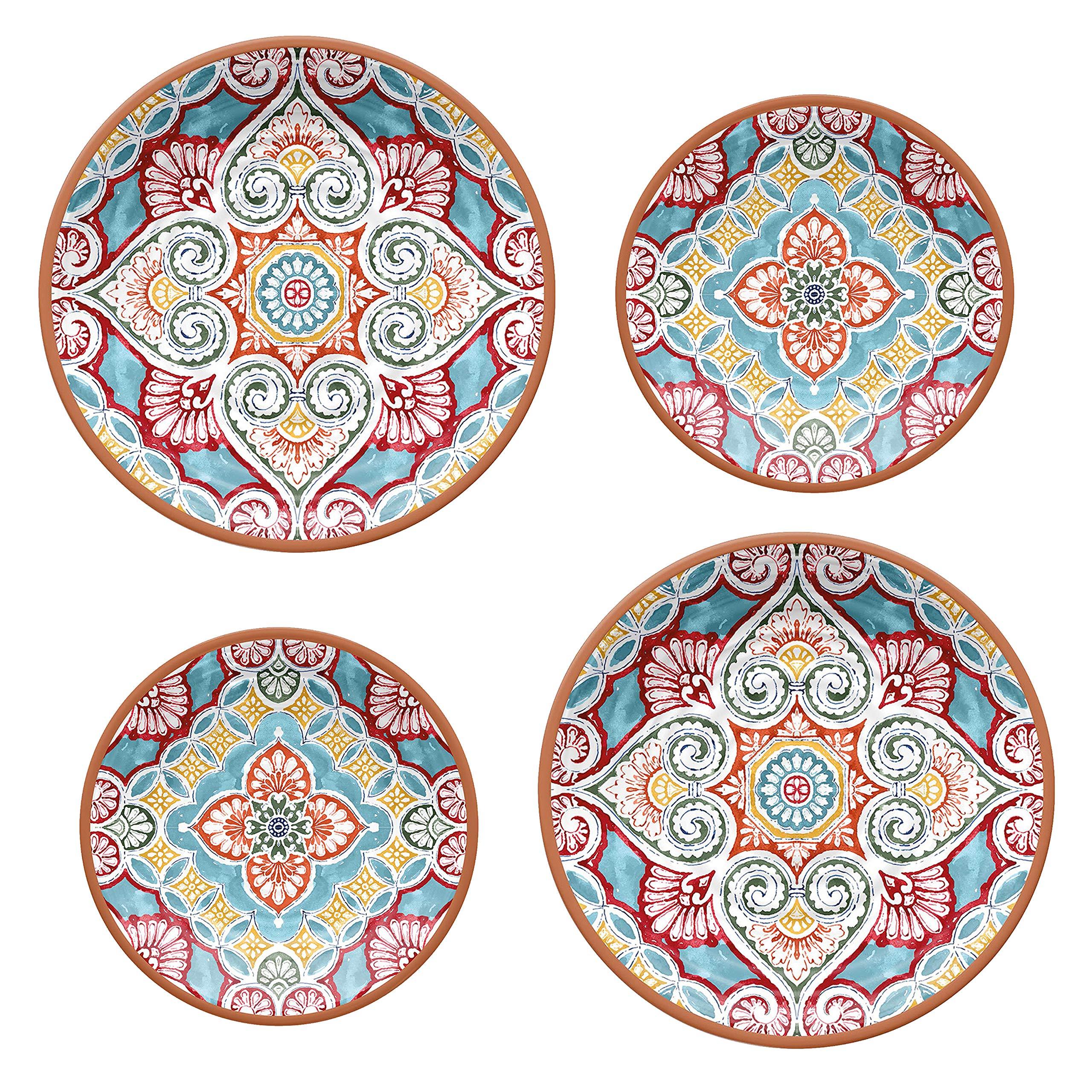 Epicurean Rio Corte Melamine Dinner /& Side Plates Set for 8