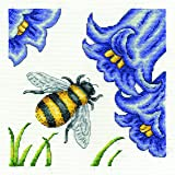 "DMC ""Bee and Bluebells"" 14 Count Cross Stitch Kit, Multi-Colour"