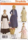 Simplicity Sewing Pattern 3725 Girl's Pioneer / Pilgrim / Colonial Dress & Bonnet, Sizes 3-6