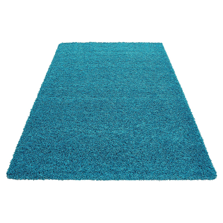 Hochflor Shaggy Teppich Wohnzimmer 3 cm Florhöhe einfarbig einfarbig einfarbig Teppiche mit OKOTEX, Maße 240x340 cm, Farbe Hellgrau B07H3Z1VGZ Teppiche f7edd4