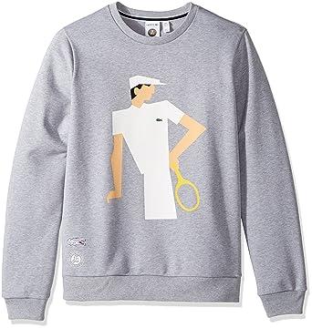 57bb7d85c39d Lacoste Men s Sweatshirt with Vintage Graphic