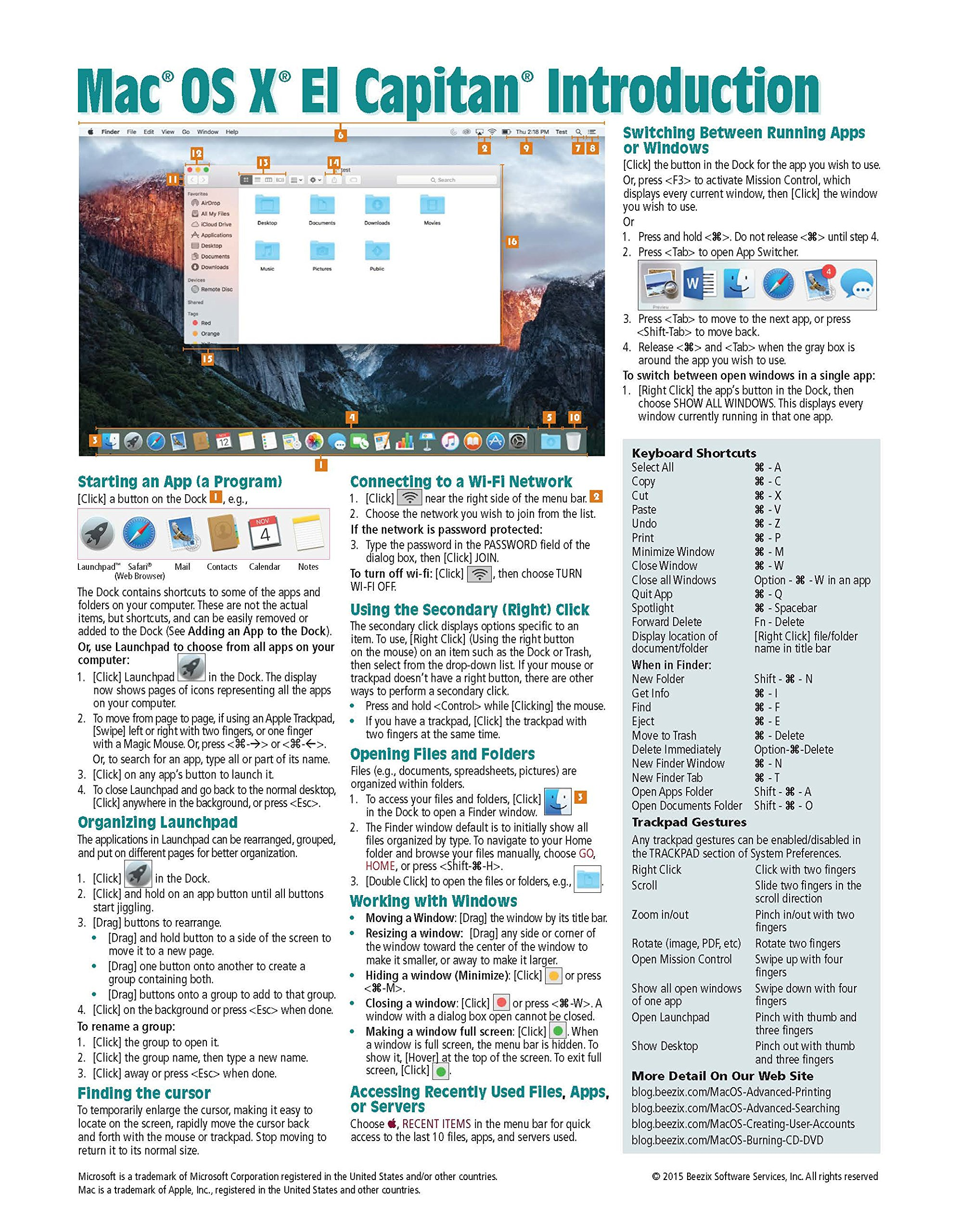 Mac X Manual Auto Electrical Wiring Diagram Satellite C55a Os El Capitan Introduction Quick Reference Guide