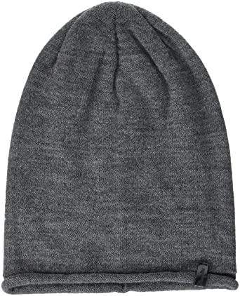 Mens Oversize Beanie, Grey (Grey 37), One Size (Manufacturer Size: 88/88) Wrangler