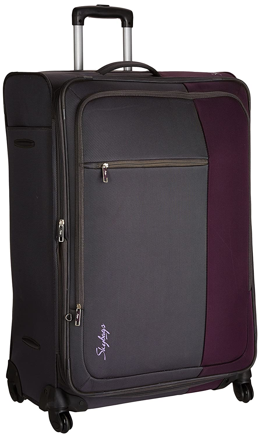 Skybags Cube Polyester 78 cms Purple Soft Sided Suitcases