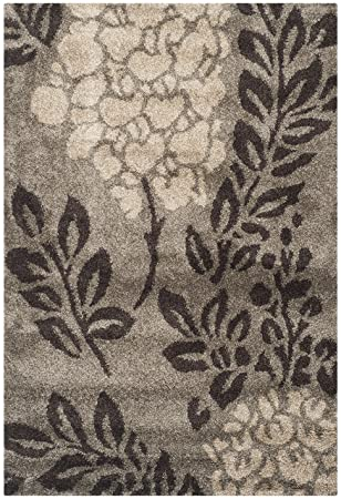 702cda82efa Image Unavailable. Image not available for. Color  Safavieh Florida Shag  Collection SG456-7928 Smoke and Dark Brown Area Rug ...