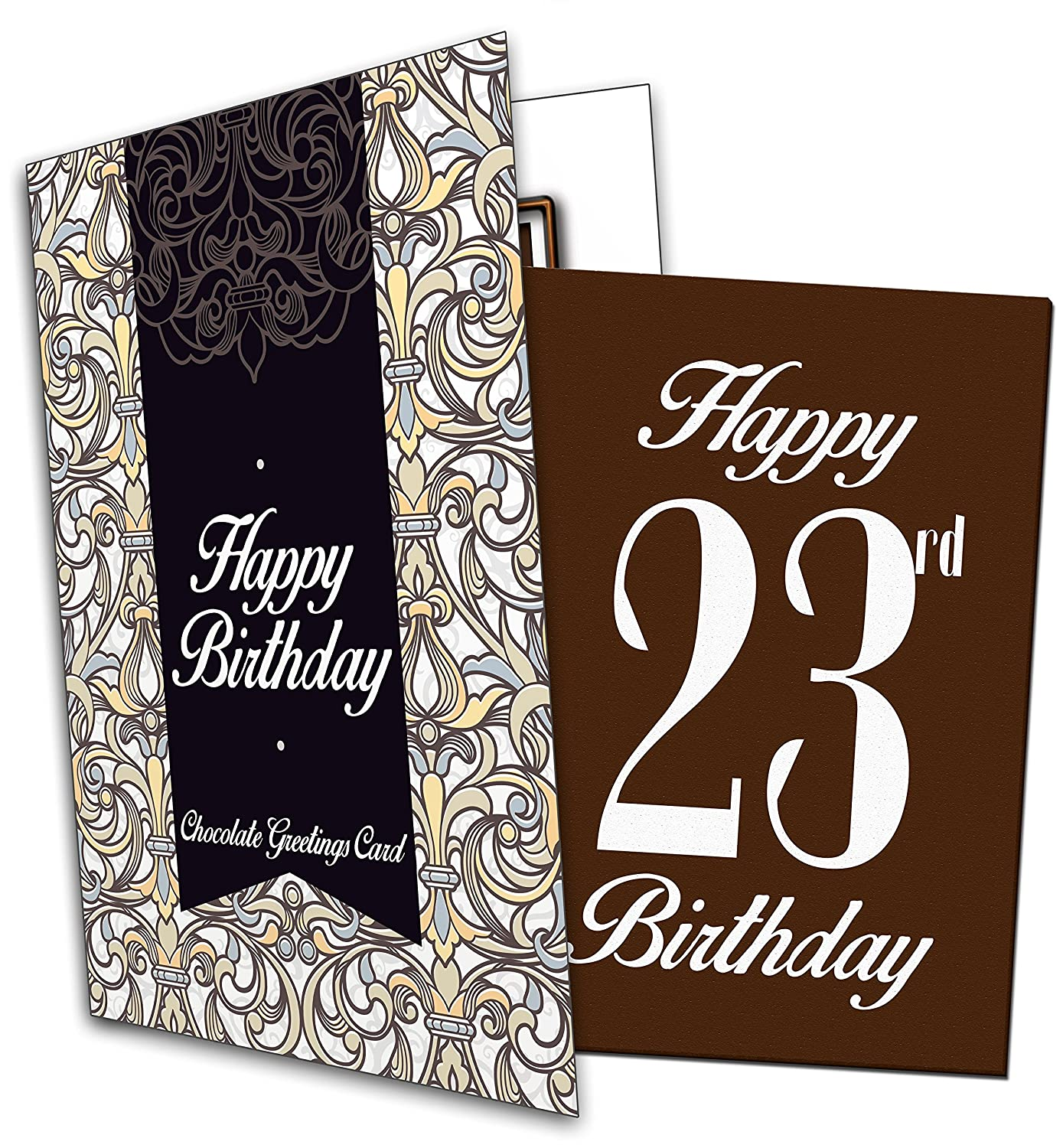 Happy 23rd Birthday Chocolate Greeting Card Amazon Grocery